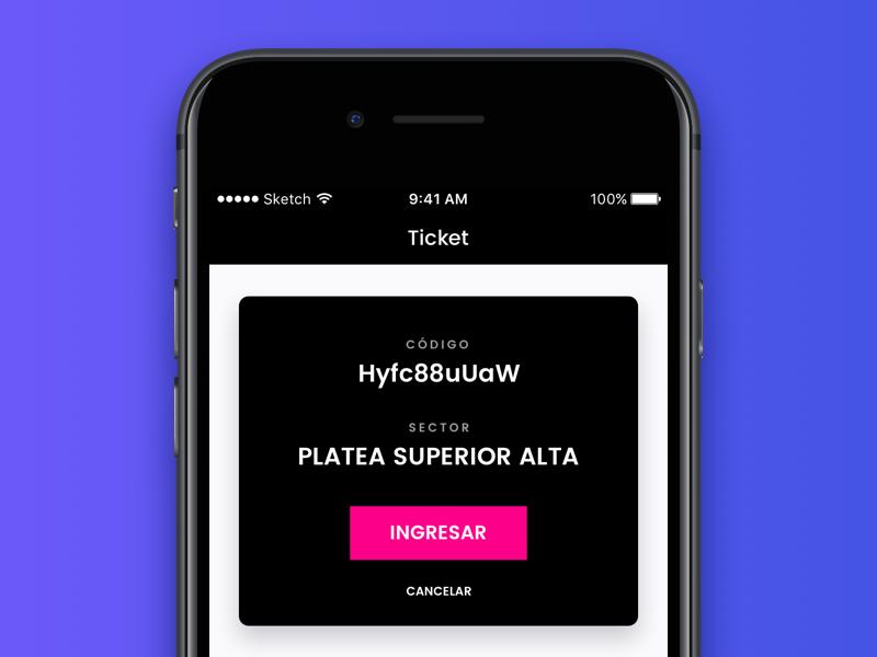 Ticket 🎫 ux design ui design product design ios app wip ux ui design scan ticket
