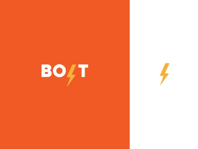 BOLT typography powerbank branding vector abstact