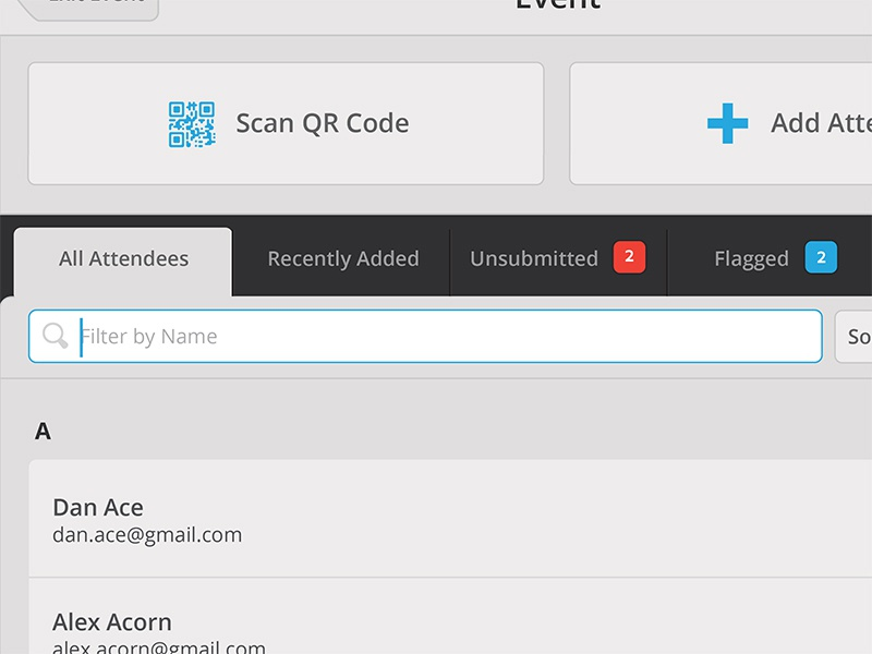 Filtering simple app flat iphone ios qr flags list filter search