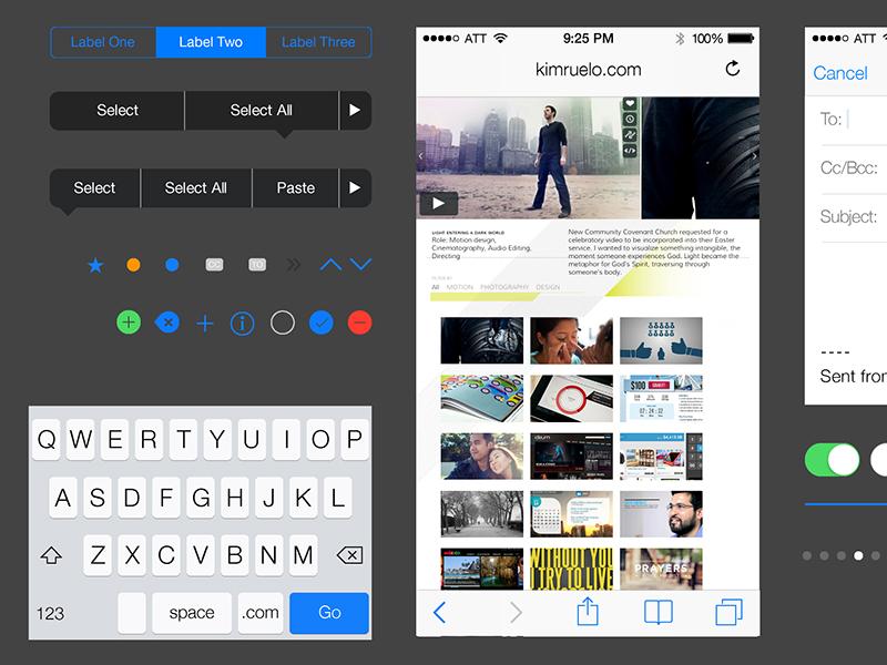 iOS 7 iPhone AI Download iphone ios free download gui kruelo2 ios7 illustrator vector ai psddd freebie