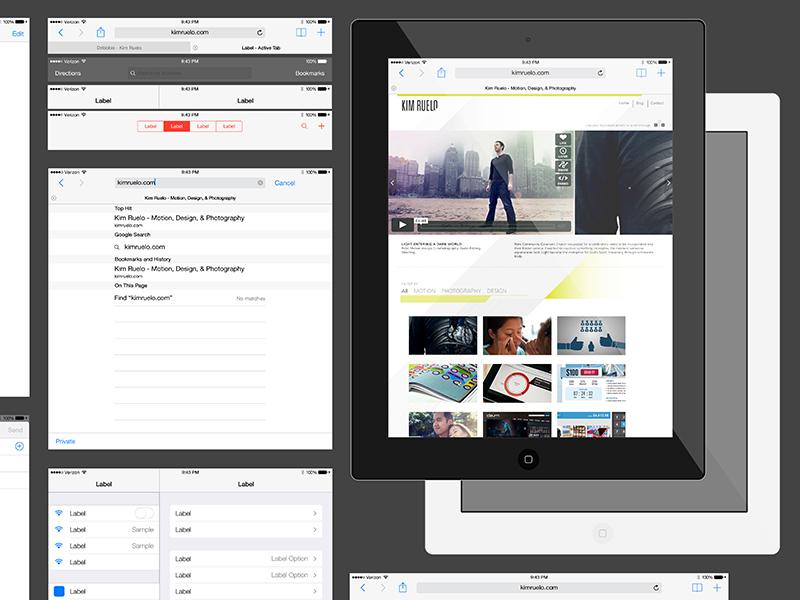 iOS 7 iPad AI Download ios ipad ai download free gui illustrator ui ios7 vector freebie psddd