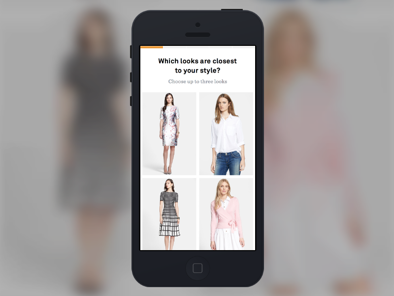 Trunk Club for Women Onboarding minimal signup style clothing ui quiz onboarding beta made with invision