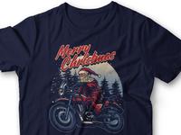 Santa Rider T-Shirt Design