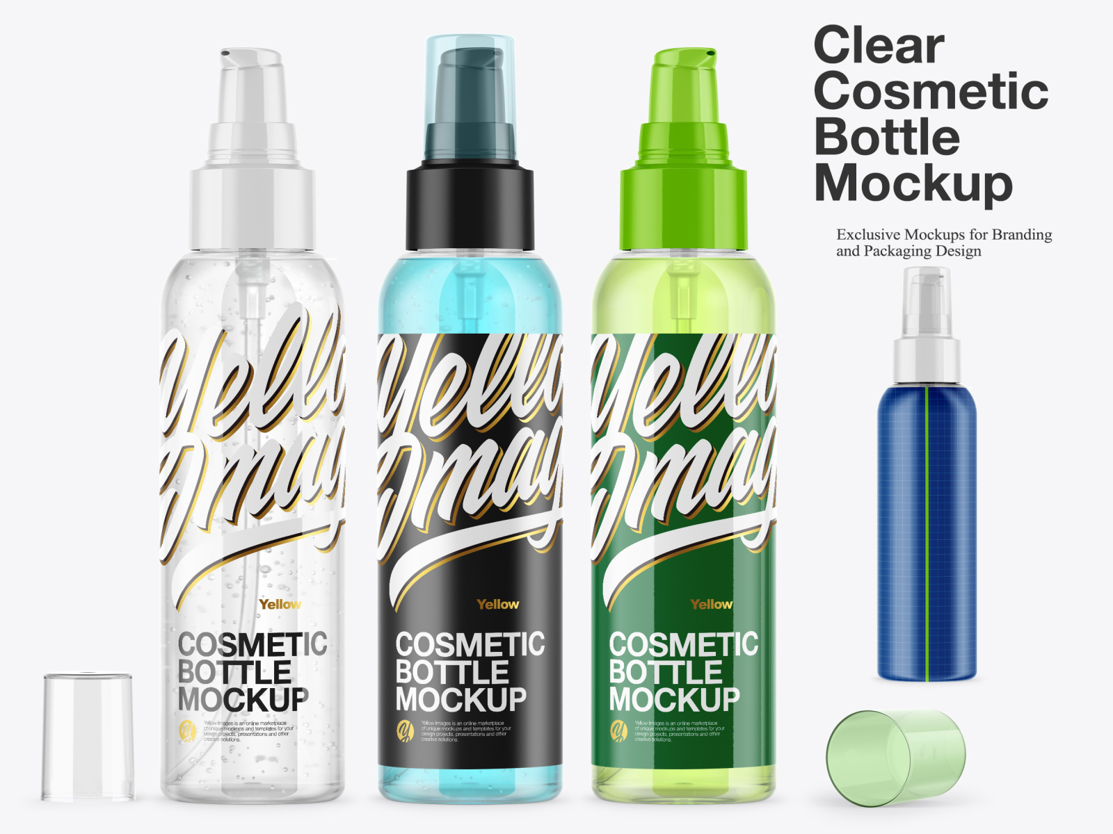 Download Clear Cosmetic Bottle Mockup By Oleksandr Hlubokyi On Dribbble PSD Mockup Templates