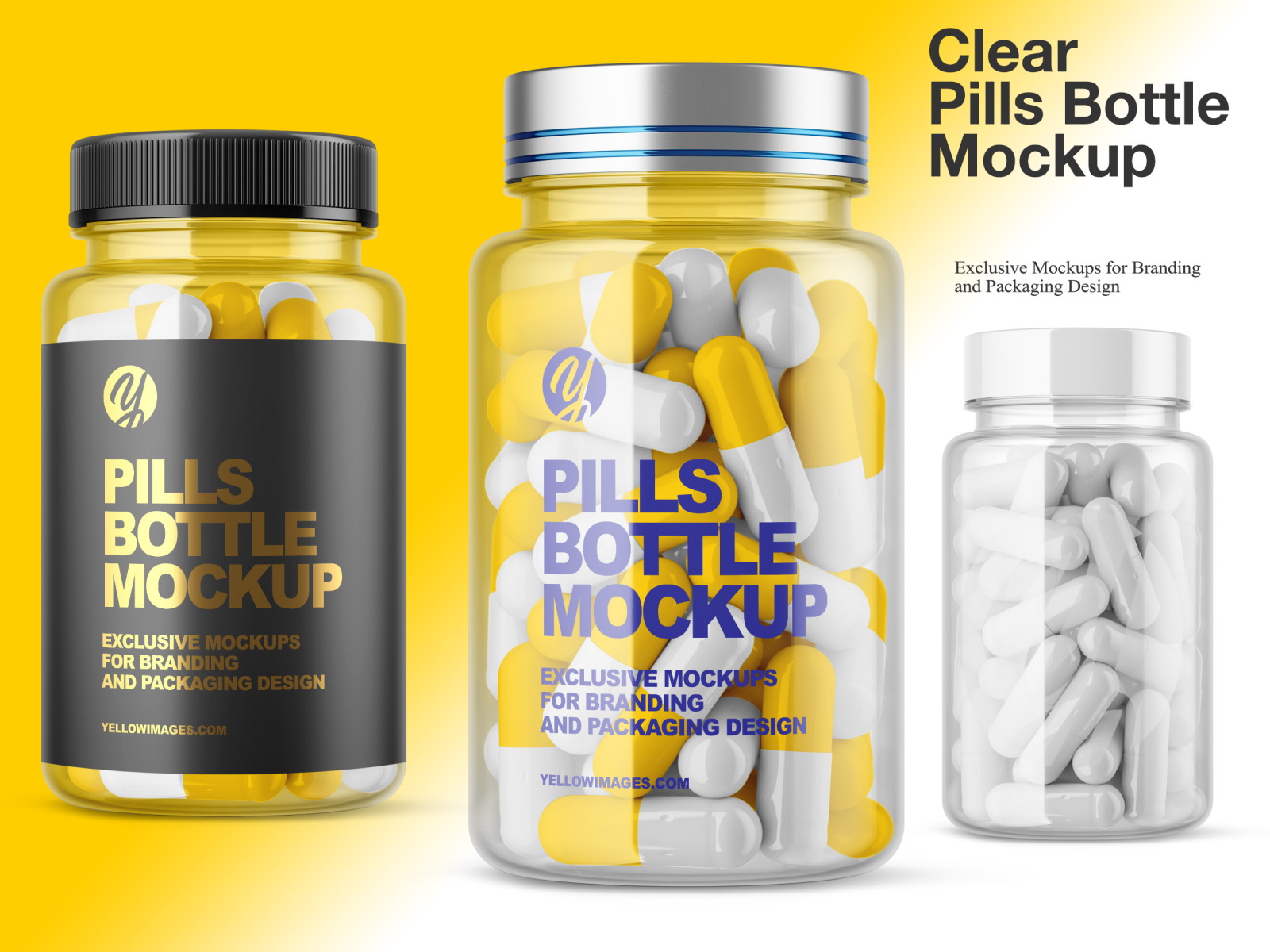 Download Clear Pills Bottle Mockup By Oleksandr Hlubokyi On Dribbble PSD Mockup Templates