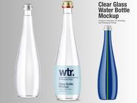 Clear Glass Water Bottle