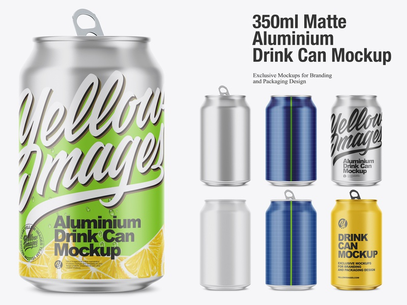 350ml Matte Aluminium Drink Can Mockup soda matte can matte aluminium can matte aluminium lemonade drinks cold drink cola can cola cocktail can mockup can beverage beer can beer aluminium can aluminium 350ml 330 ml 16oz