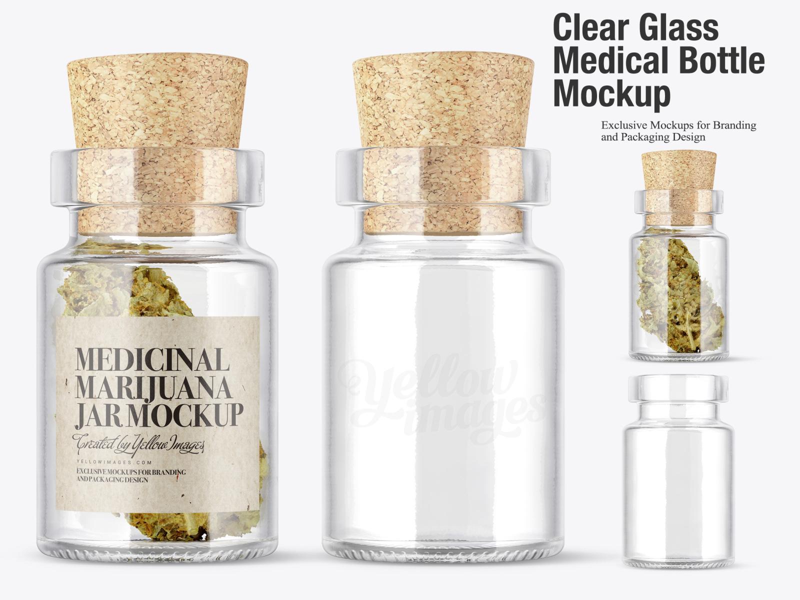 Clear Designer Perfume Bottle Gold