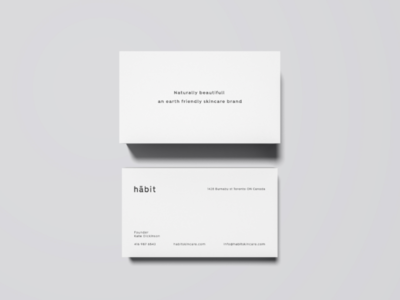 Habit skincare - business card