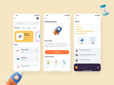 Gamestore App minimalist clean ui 3d app app design icon ui minimal design