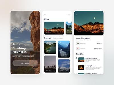 Climber  App climb mountain trip travel app design minimal icon ui design