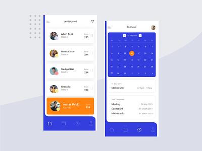 Leaderboard App app design minimal app icon ux branding ui design