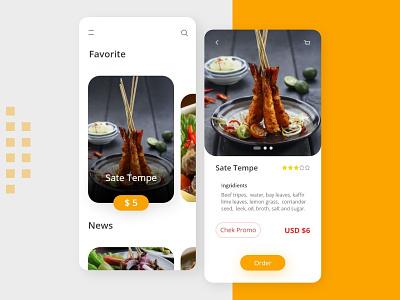 Food App food app ux ui minimal icon design branding app design app