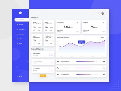 Dashboard Statistics statistics dashboad ux ui minimal icon design