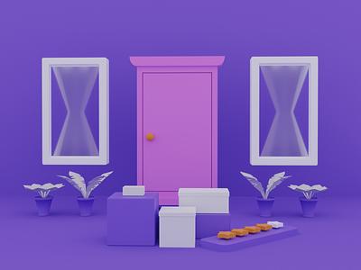 Special Gift app design packaging star shipping blender 3d