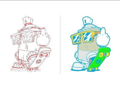 MTN spraycan lifestyle skater skateboard vectors adobe ilustrator vector illustration illustration character cartoon character cartoons