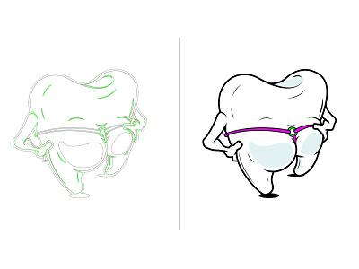 Dental Floss dentists cartoons adobe illustrator vectors vector illustration cartoon illustration cartoon character illustration dental dentist