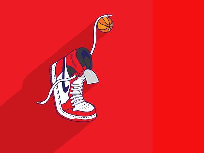 Air Jordan 1 jordan jordan1 michael jordan sneakers vectors adobe illustrator vector illustration illustration cartoons vector basketball jordans nike nike air