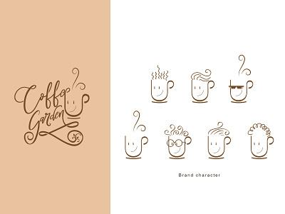 Coffee Garden santanafirpo coffee logo design logodesign adobe illustrator logo illustration cartoons
