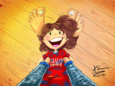 Memories for my son cartoon illustration illustration procreate childrens illustration illustrations cartoons