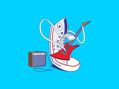 Converse Chuck Taylor All star vector art sneakers converse illustration vector illustration adobe illustrator vector