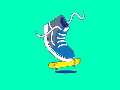 Vans Sk8 Hi adobe illustrator vans illustrations sneakers vector illustration vector art vectors vector