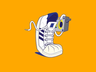 Adidas Superstar illustration adidas originals sneakers adobe illustrator vector illustration vectorart vector