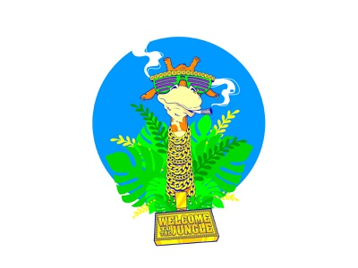 Welcome To The Jungle weed 420 jungle giraffe silkscreen print adobe illustrator vector illustration vectors illustration