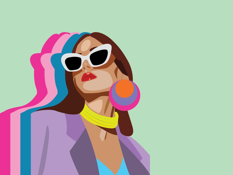 fashion colours fashion illustration digitalart