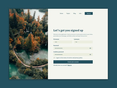 Sign Up webdesign webpage 001 signup form signup inputfields input form design ui ux challenge dailyui