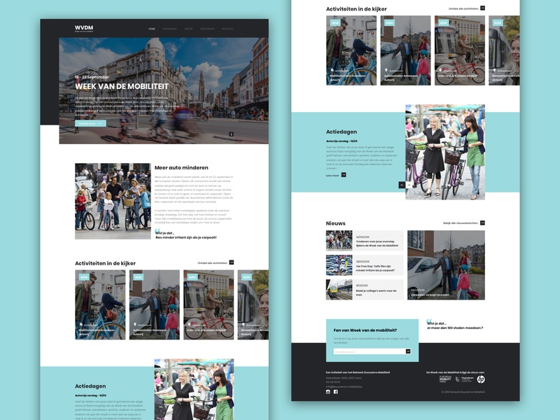 Week van de mobiliteit - redesign typography minimal website layout interface responsive design responsive webdesign mobility activities ui ux redesign web design