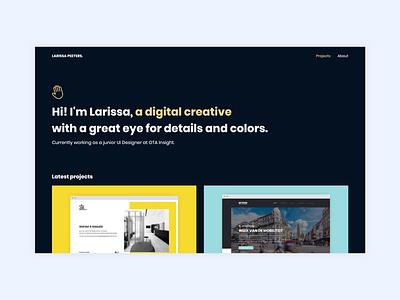 Portfolio clean minimal interaction responsive animation illustration site typography web uiux projects portfolio webdesign layout interface challenge ux ui design