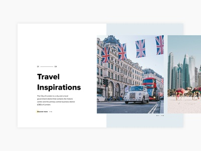 Front page service typography minimal interaction personal inspiration travel landing page landing clean web interface webdesign uiux layout challenge ux ui design