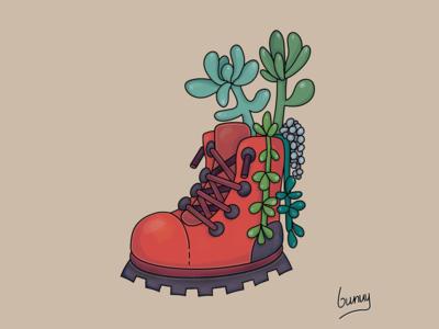Succulent Boot Art