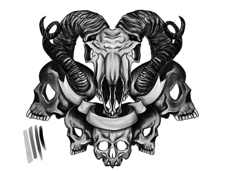 171fd268a4bc5 Tattoo sketch hell devil satanic satan skulls skull tattoo sketch sketch  tattoo design tattoo art tattoo