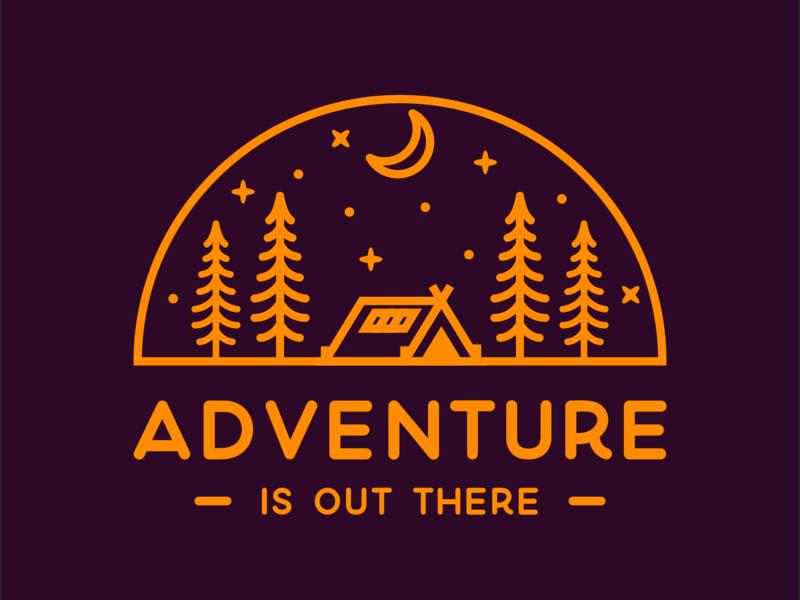 adventure camp discovering discovery future explore earth star tree shirt design shirtdesign shirt nature flat logo mountain illustration discover design camp branding adventure