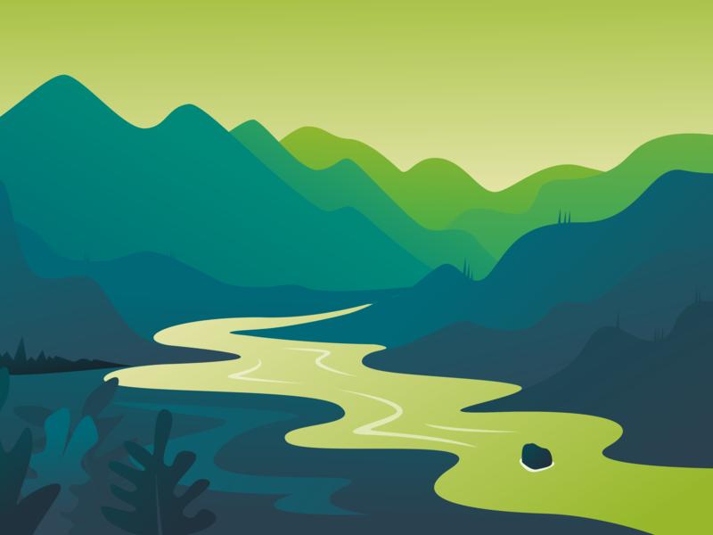 Green Mountain flatnature shirt minimal tree lake vector earth future logo explore discovering discovery nature mountain illustration flat discover design camp adventure