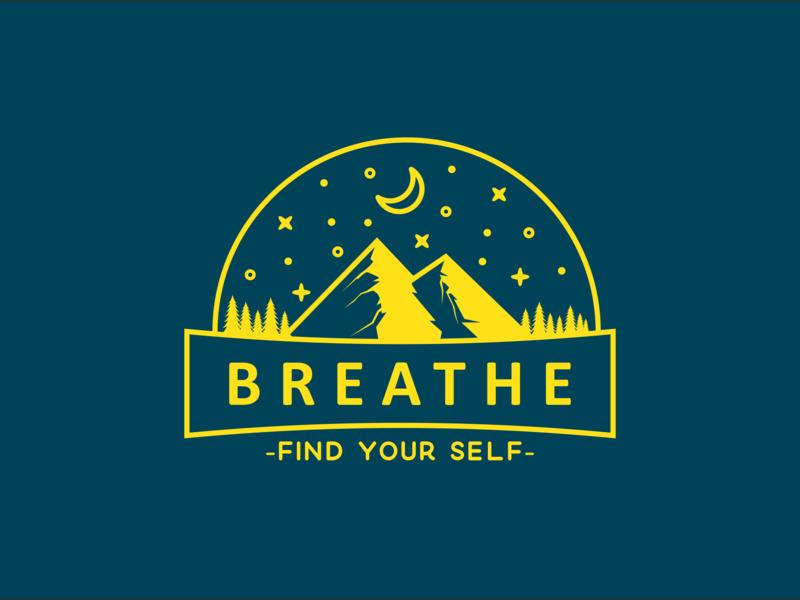 Breathe future shirt design earth moon star shirtdesign explore logo discovering tree flat shirt nature discovery mountain illustration discover design camp adventure