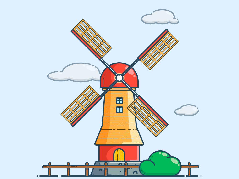 Outline Mill outline outline illustration design vector illustration art