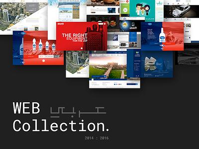 Web Collection arab saudi art identity landing photoshop illustrator collection webfolio websites website web