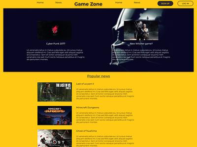 Gmaezone-Landing page landing page web design ux