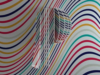 P - 36 days of type 2020 paper origami fold design 2020 36daysoftype c4d octane cinema4d render 3d