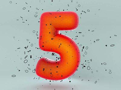 5 - 36 days of type 2020 animation motion 2020 typography lettering illustration 36daysoftype c4d octane cinema4d render 3d