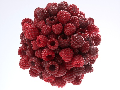 More berries! illustration 36daysoftype c4d render octane cinema4d 3d
