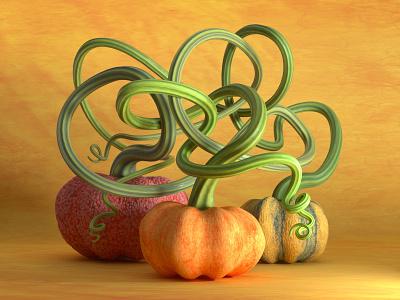 Pumpkins samain halloween pumpkin design c4d render octane cinema4d 3d