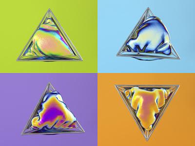 Tetrahedron polyhedron polygon iridiscent octane c4d tetrahedron render 3d cinema4d