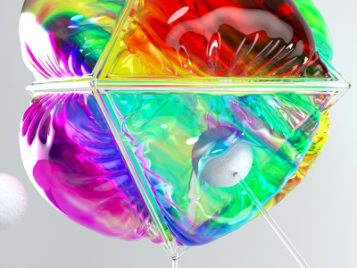 Octahedron motion animation cloth c4d render octane cinema4d 3d