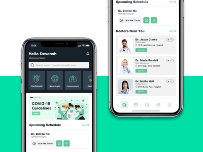 Find Your Doctor | DocFinder task consultant 2021 trend ios color adobe xd schedule design product design flat minimal interface ui design app doctor app healthcare mobile ui ui