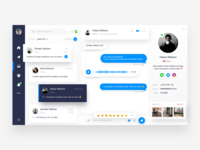 Chat social dashboard