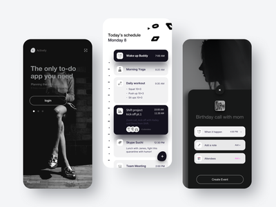 Memo recording event wide uiux cards ui record things the memo the memo product mountanins mobile ios interface images extended dark ui darkapp cards bold blackandwhite app